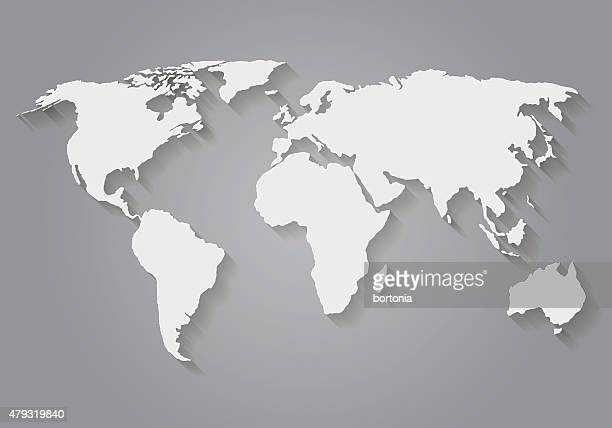 Flat Design Paper World Map