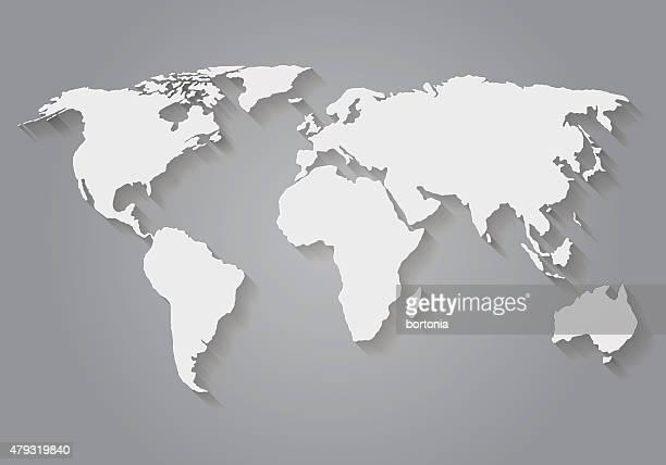 Flache Design-Papier-World-Karte