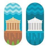Flat design Parthenon