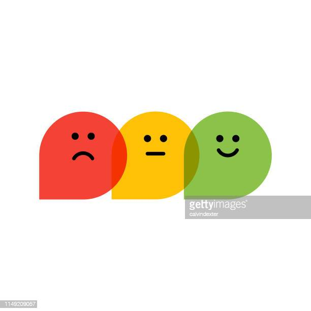 flat design promoter score icons - negative emotion stock illustrations