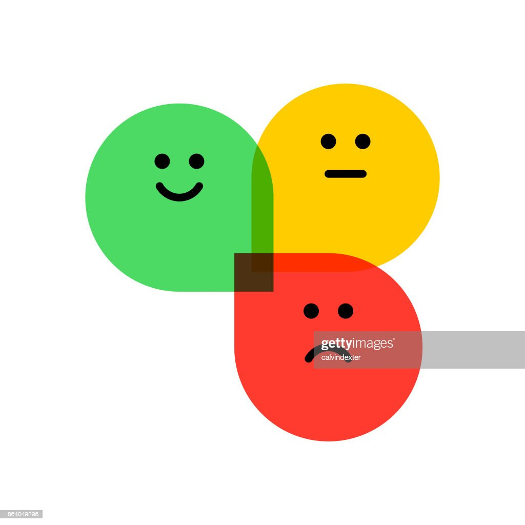 Flat design promoter score icons