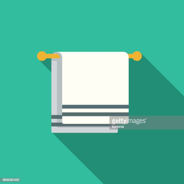 Flat Design Real Estate Bathroom Icon with Side Shadow