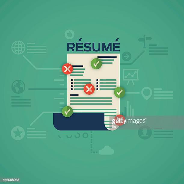 flat design resume - resume stock illustrations