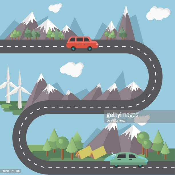 Flat Design Road Infographics
