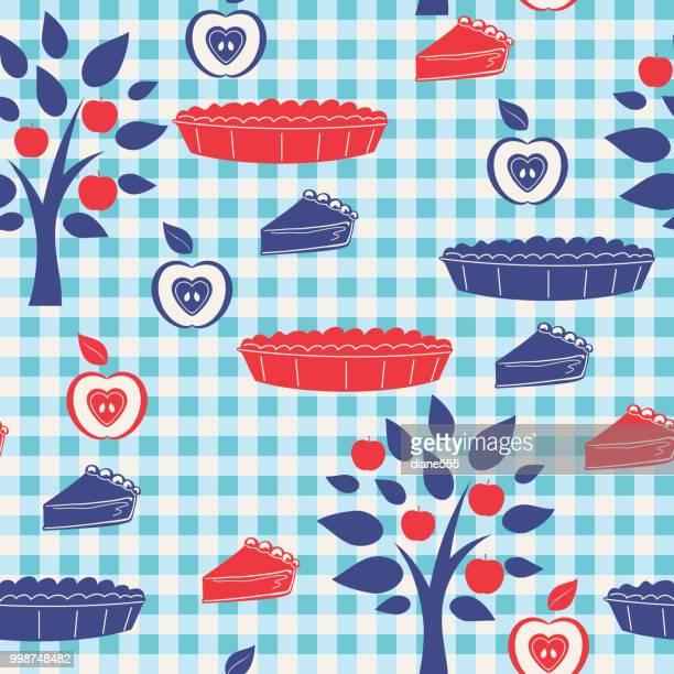フラットなデザイン農村りんごのシームレス パターン