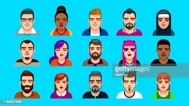 flat design style avatars - characters stock illustrations