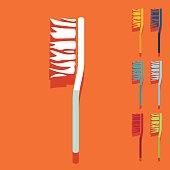 Flat design: toothbrush