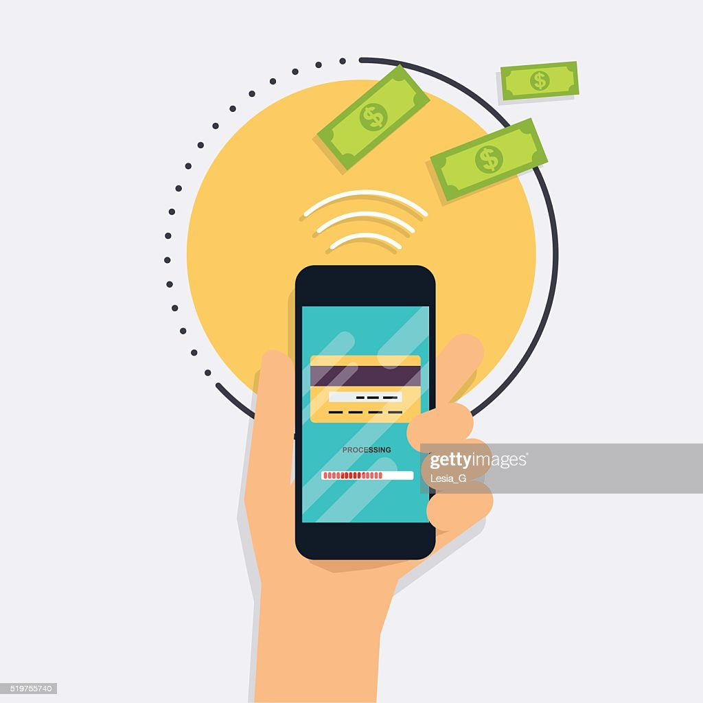 Flat design vector illustration concepts of online payment metho