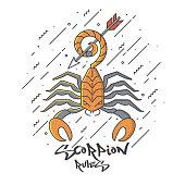 Flat designed Scorpion