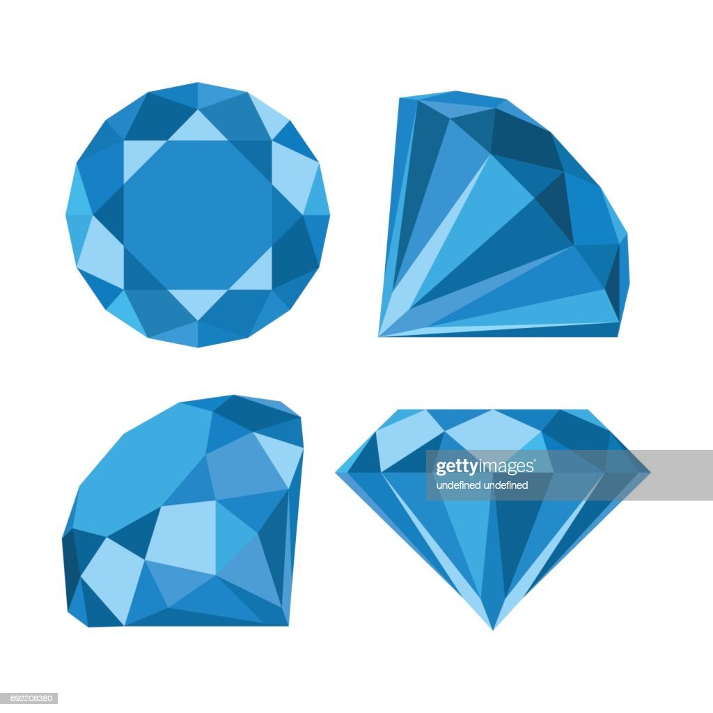 Flat diamond icon