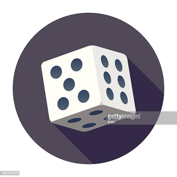 flat dice icon - dice stock illustrations