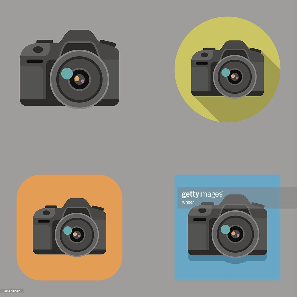 Flat DSLR icons | Kalaful series