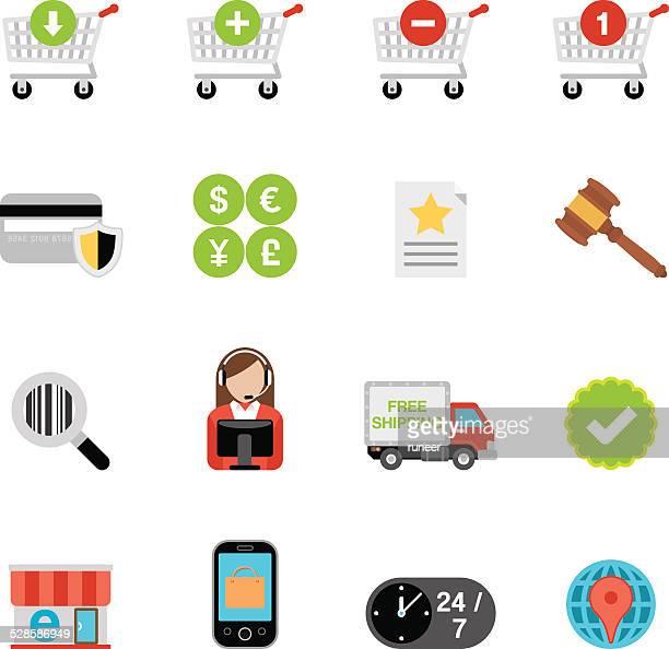 Flat E-Commerce icons | Simpletoon series