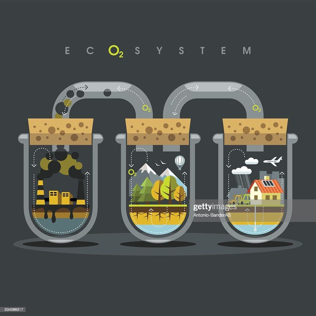 Flat Ecosystem Oxygen