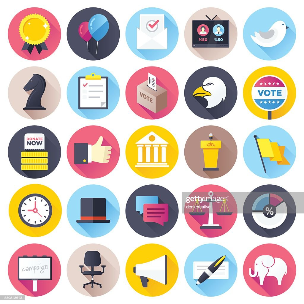 Flat Election Icons