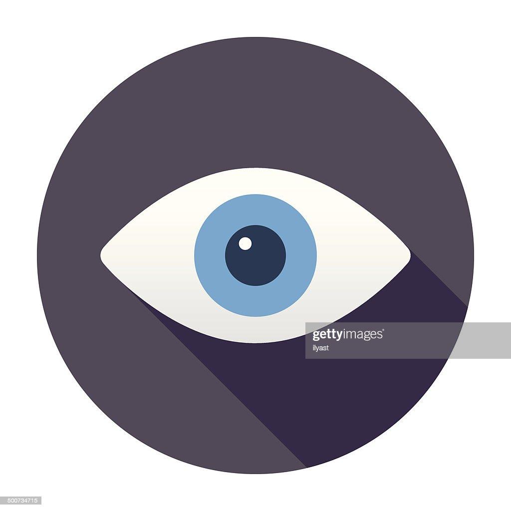 Flat Eye Icon : stock illustration