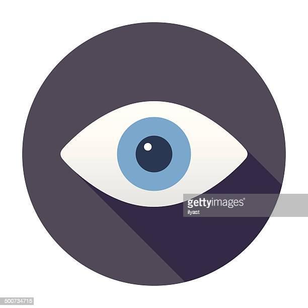 ilustrações, clipart, desenhos animados e ícones de olhos plana ícone - olho