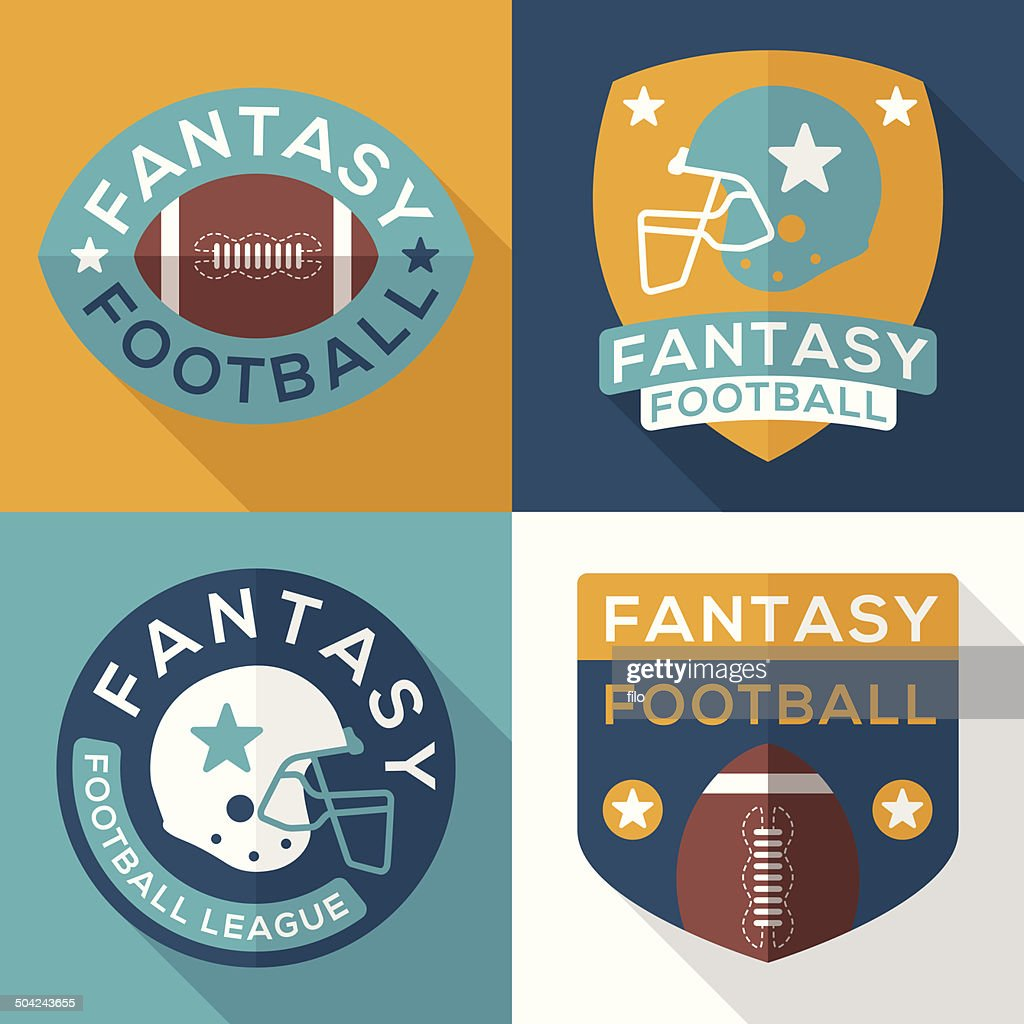 Flat Fantasy Football Symbols