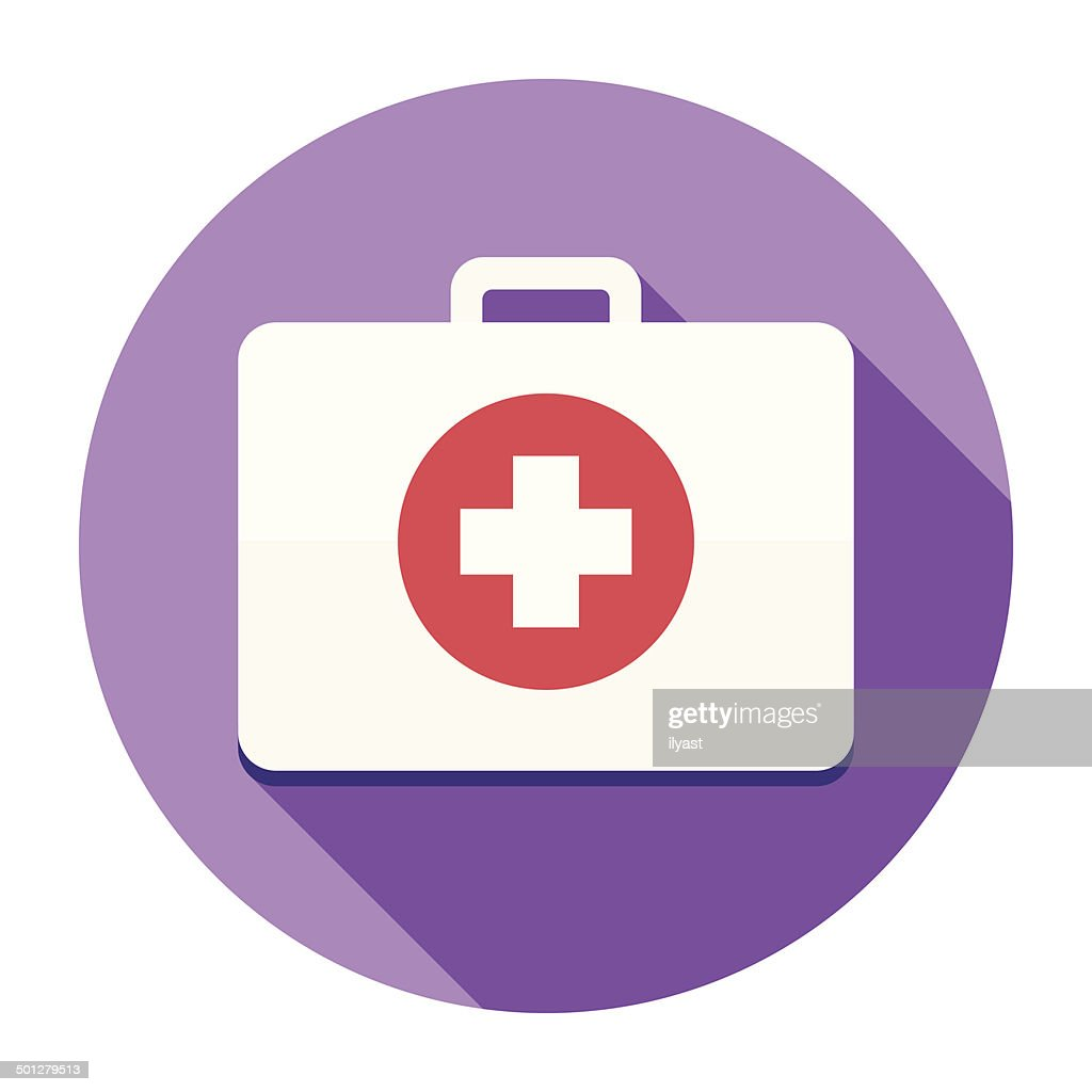 Flat First Aid Kit Icon
