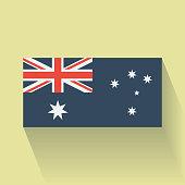 Flat flag of Australia