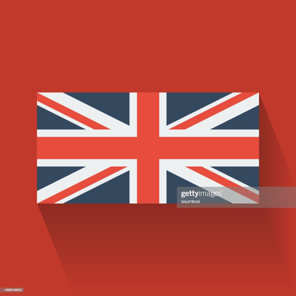 Flat flag of the UK