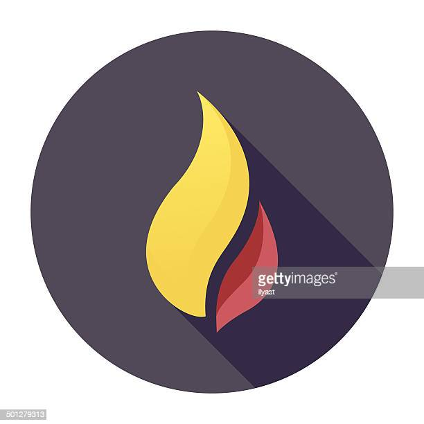 flat flame icon - passion stock illustrations