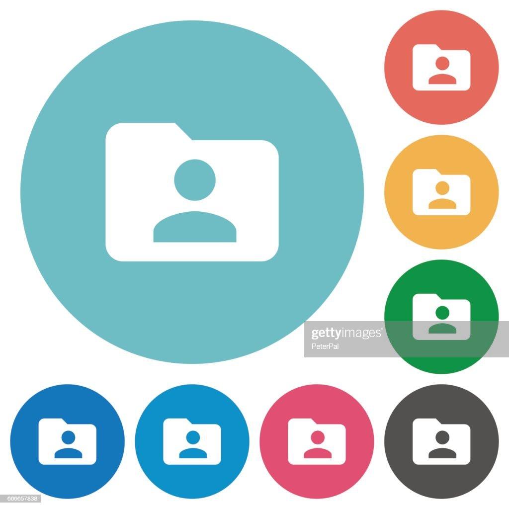 Flat folder owner icons