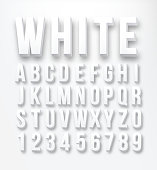 Flat font alphabet vector