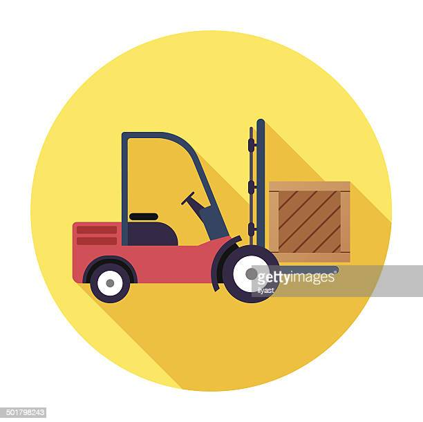 Flat Forklift Icon