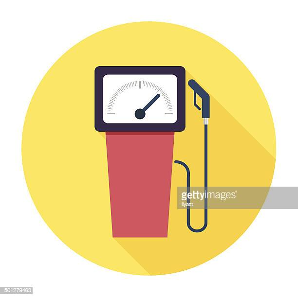 flat gas station icon - fuel pump stock illustrations, clip art, cartoons, & icons