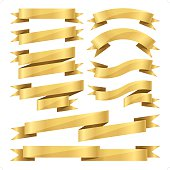 flat gold ribbon set