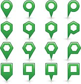 Flat green color map pin sign location icon