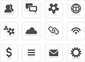 Flat grey icons