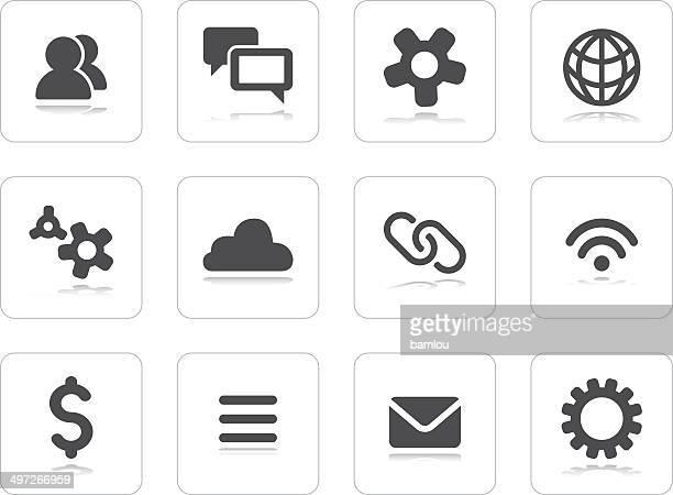 flat grey icons - hamburger stock illustrations, clip art, cartoons, & icons