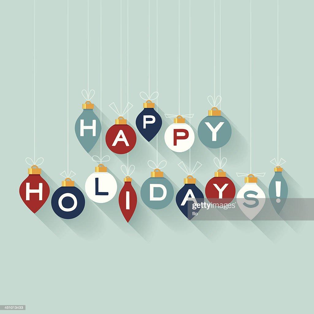 Flat Happy Holidays