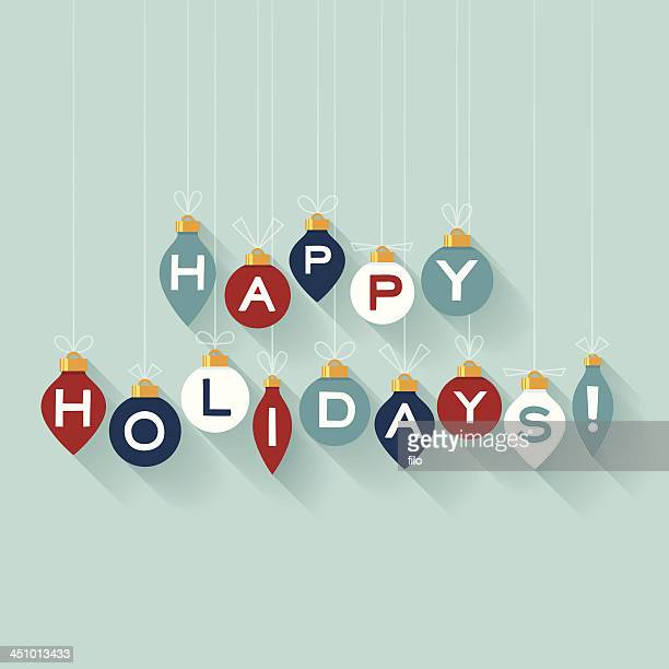 flat happy holidays - happy holidays stock illustrations, clip art, cartoons, & icons