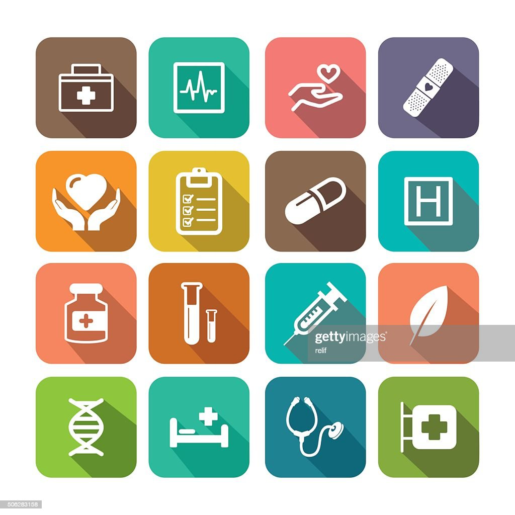 Flat HEALTHCARE Icon Set