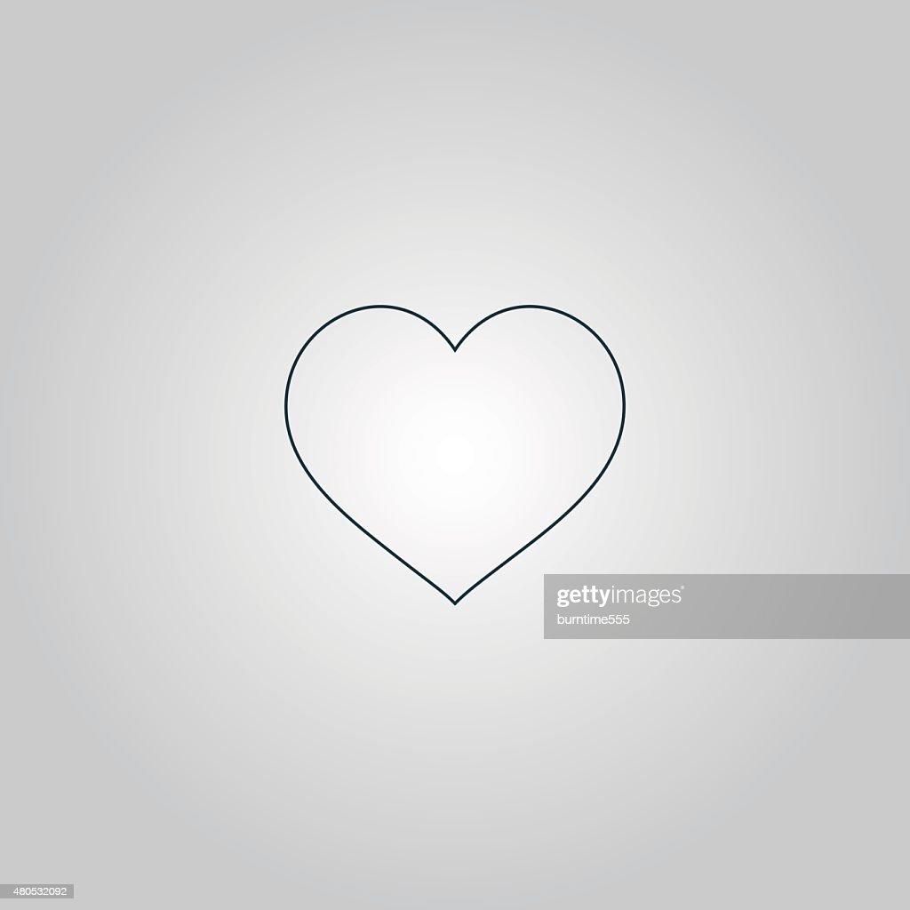 Flat heart icon : Vector Art