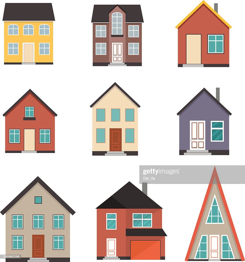 Flat House Icon set