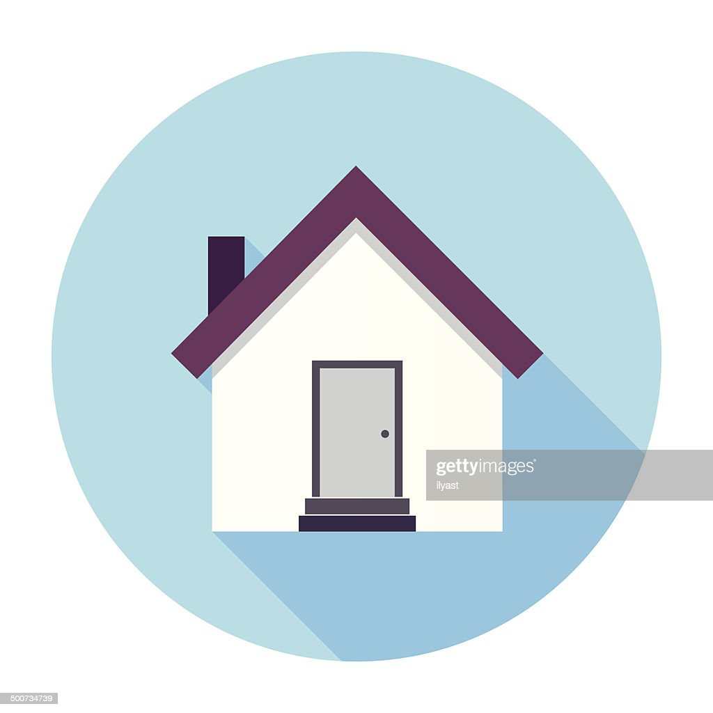 Flat House Icon : stock illustration
