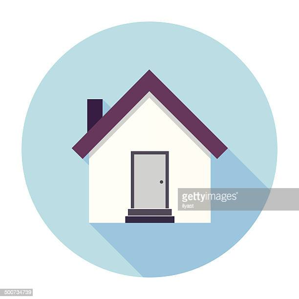 flat house icon - house stock illustrations