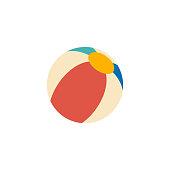 Flat icon - Beach ball