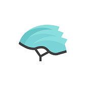 Flat icon - Bicycle helmet