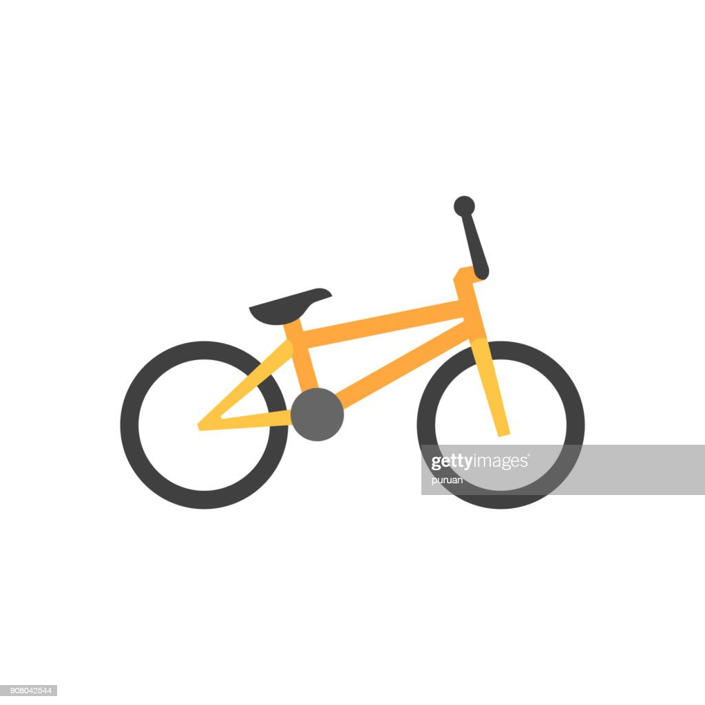 Flat icon - BMX bicycle