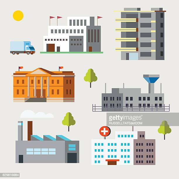 Flat Icon Buildings