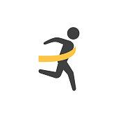 Flat icon - Finish line