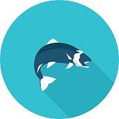flat icon fish