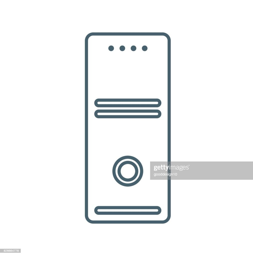CPU flat Icon Isolated on White Background.vector illustration icon