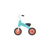 Flat icon - Kids tricycle