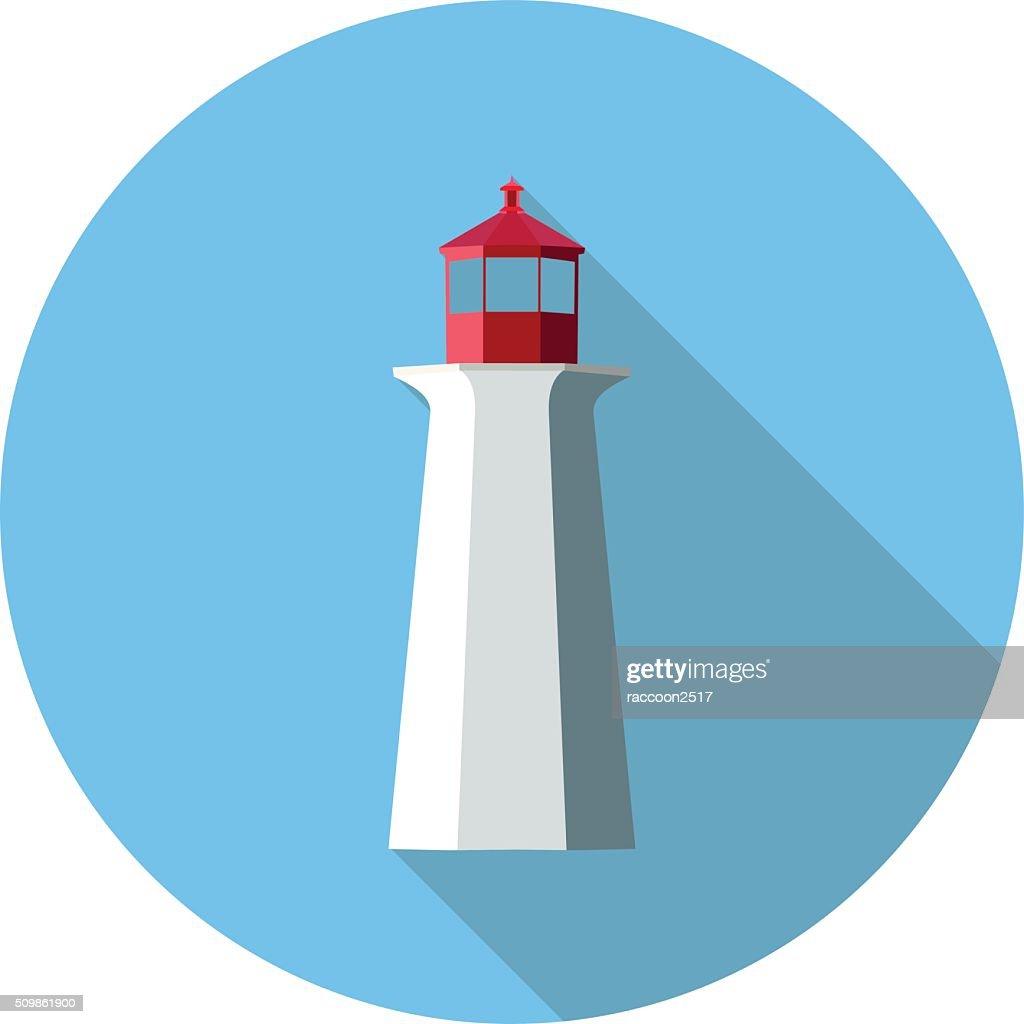 flat icon lighthouse